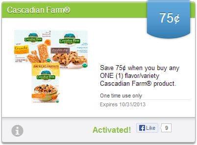 Cascadian Farm Saving Star Coupon