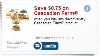 Cascadian MPerk coupon