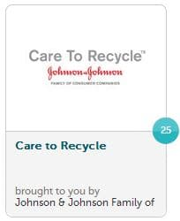 Recyclebank 25 points Johnson