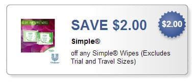 Simple wipes coupon