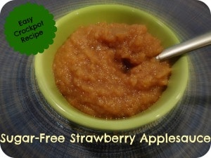 Strawberry applesauce sugar free