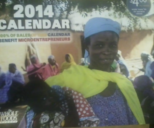 2014 WF calendar