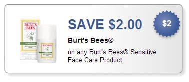 Burt's Bees sensitive couon