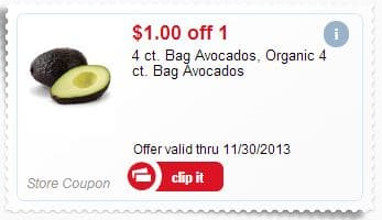 organic avocado coupon