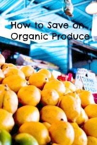 save on organic produce