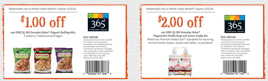 whole foods dec bonus coupons