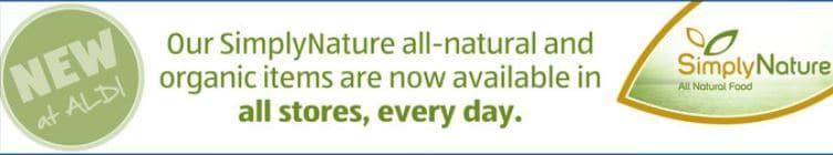 Aldi organic Simply Nature