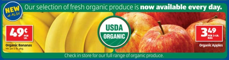 Aldi organic produce