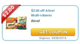 Alive multivitamin coupon