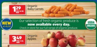 aldi organic produce sale
