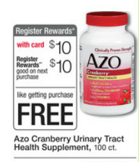 free cranberry walgreen