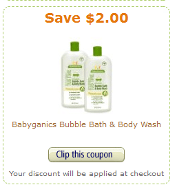 amazon babyganics coupon