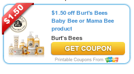 burts bees baby or mama bee coupon