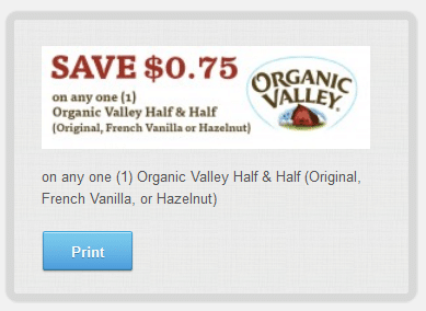 organic valley half and half coupon