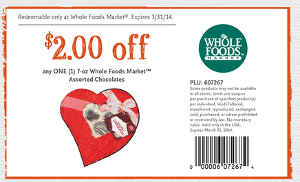 wf chocolate coupon