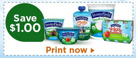 stonyfield yogurt coupon