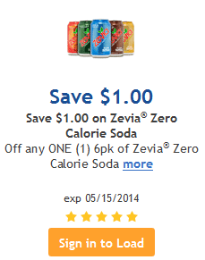 zevia kroger coupon