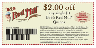 bob's red mill quinoa coupon