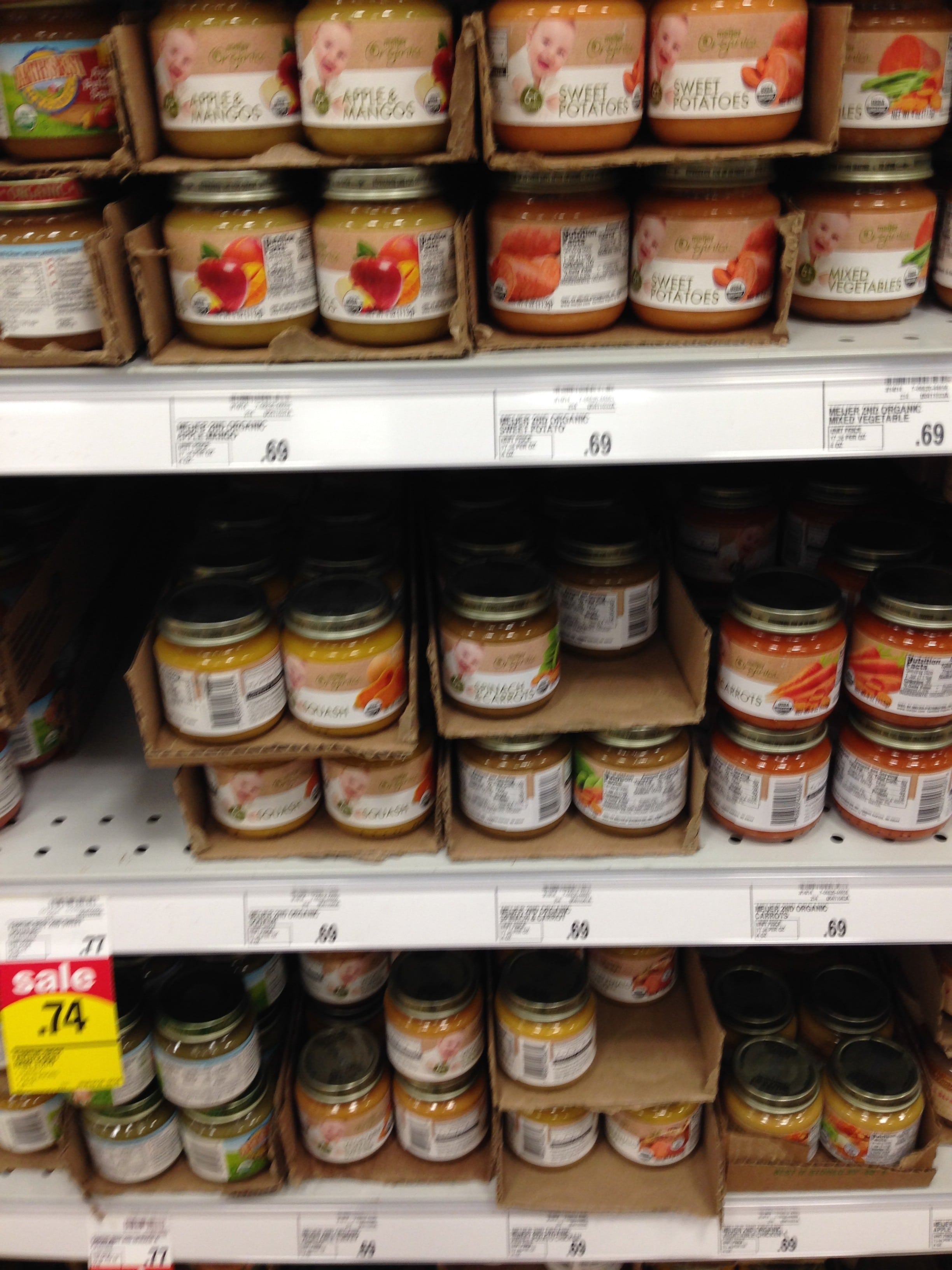 meijer organic baby food