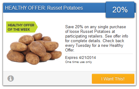 savingstar potato coupon