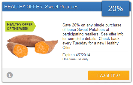 sweet potatos coupon