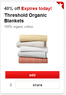 threshold organic blanket coupon