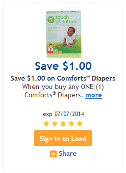 Kroger touch of nature diaper coupon