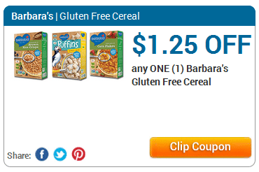 barbaras gluten free cereal coupon