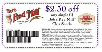 bob's red mill chia seed coupon