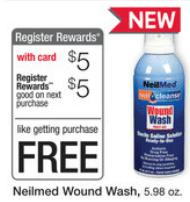 free neilmed wound rinse