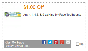 kiss my face toothpaste coupon