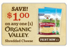 organic valley cheese and sour cream coupons