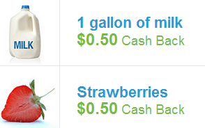 checkout milk and strawberries