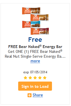 kroger free bear naked bar
