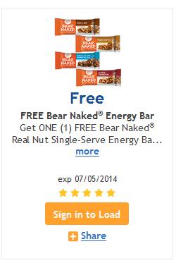 kroger free bear naked bar