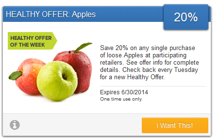 savingstar apples coupon
