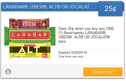 savingstar larabar coupon