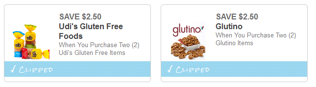 udis and glutino coupons