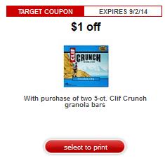 clif target coupon