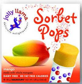 jolly llama sorbet pops