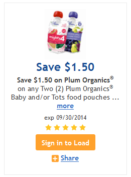 plum organics kroger coupon