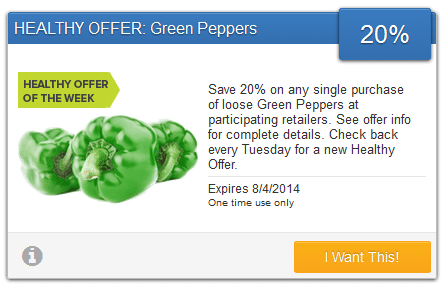 savingstar green peppers