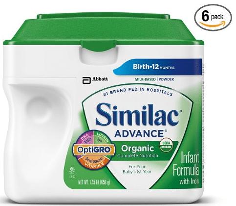 similac organic baby formula