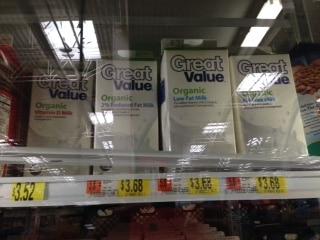 walmart organic milk