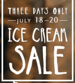 whole foods ice cream sale