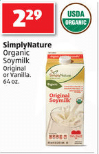 simply nature soy milk