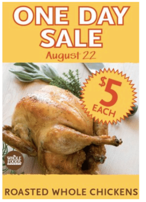 wf chicken sale