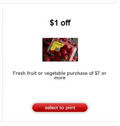 new fruit target coupon