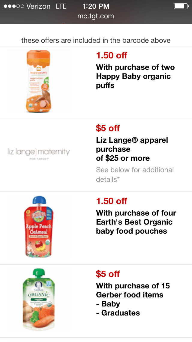 target baby coupons
