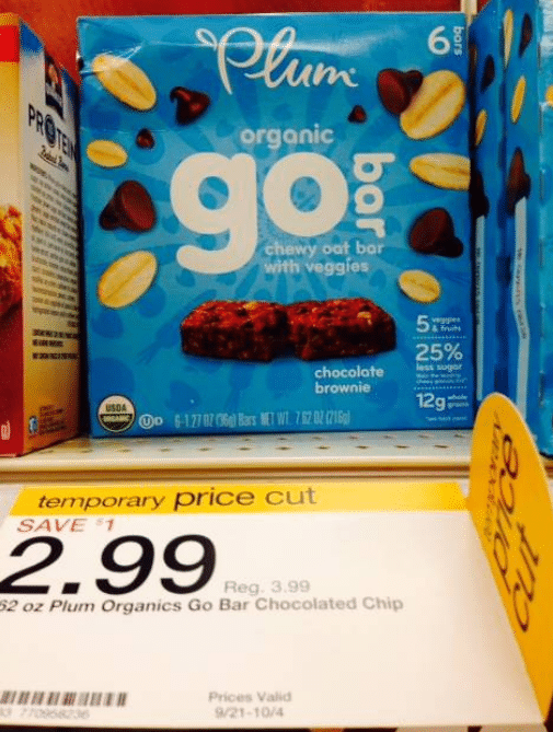 target plum go bars deal